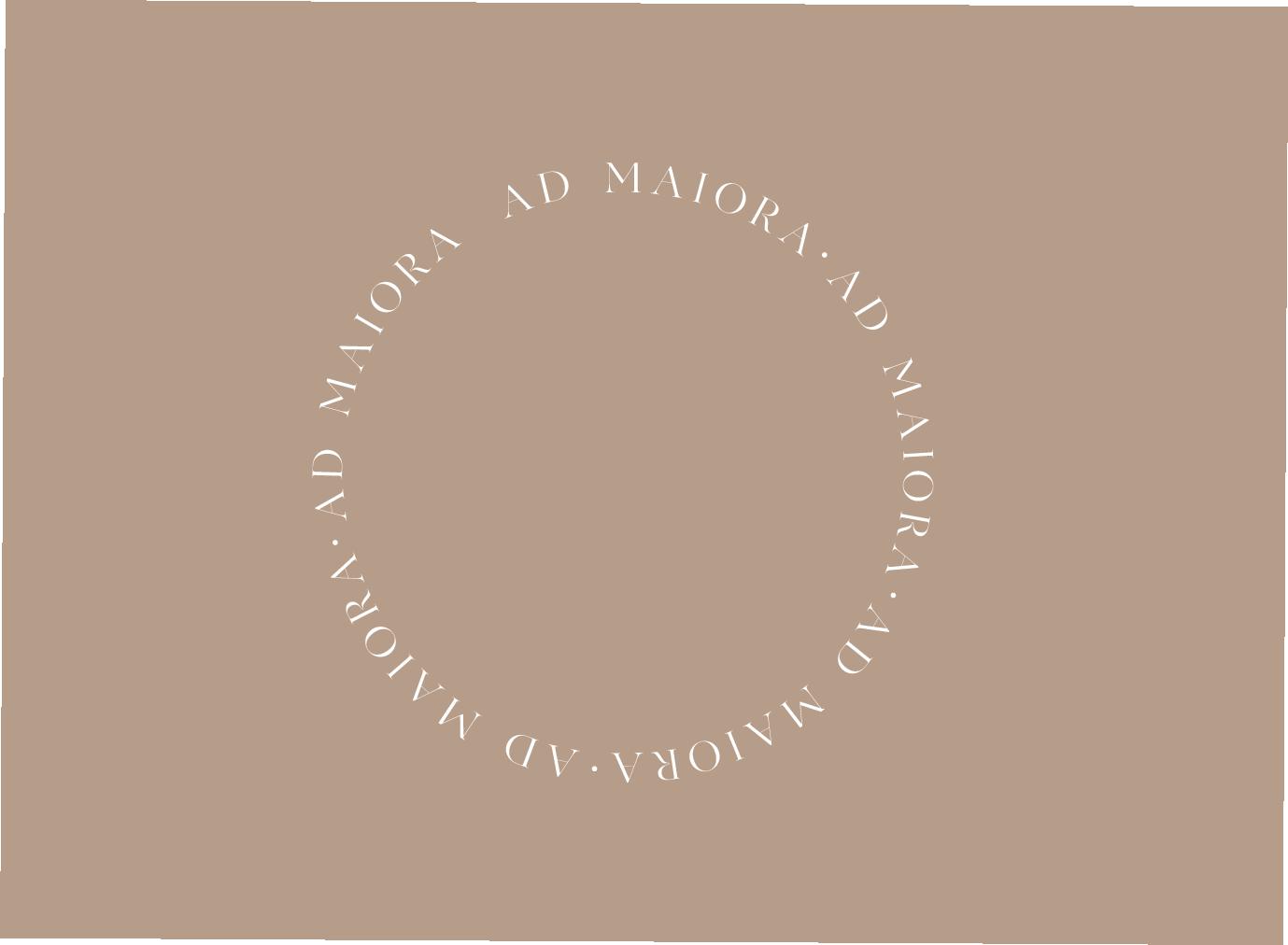IDENTITE VISUELLE - STUDIO QUOTIDIEN - AD MAIORA